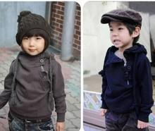 boys hoodied boy clothes autumn super handsome oblique zipper hoodies cotton long sleeve outwear hooded sweatshirt(China (Mainland))