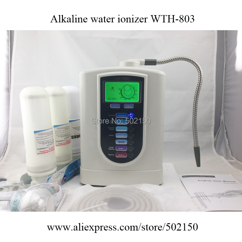 Wholesale new Alkaline Water Ionizer WTH-803 with best price and pre filter set, free shipping to USA<br><br>Aliexpress