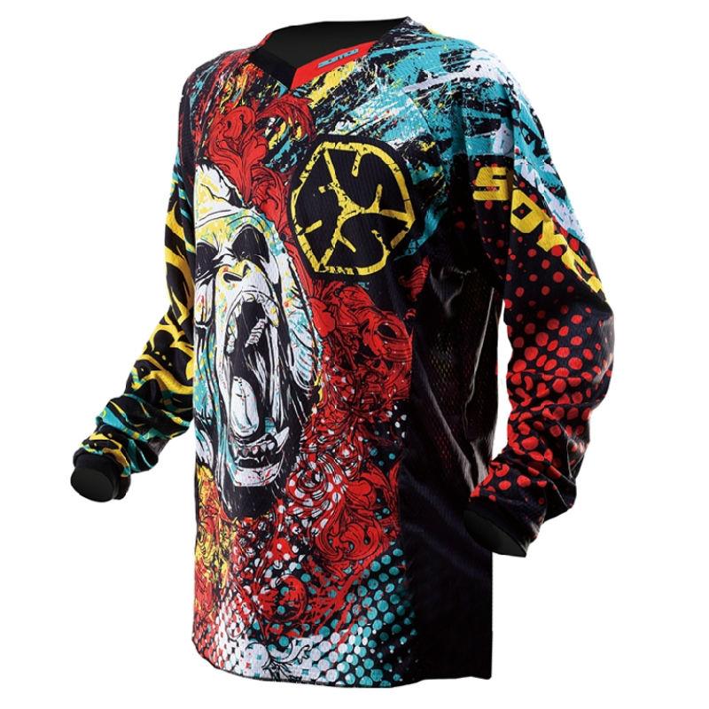 Shirts Tops Motorcycle Midnight Motocross Jersey/MX MTB Cycling ATV Bike moto Jersey T-shirt Clothing Wear jaqueta motoqueiro