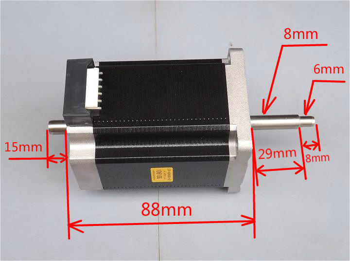 2a static torque 2 5n m step angle 1 8 degrees 88mm high for Limited angle torque motor
