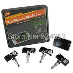 2013 Hot Sale Promotion Orange 4-Wheel Wireless Tire Pressure Monitoring System TPMS P409S + Free Shipping