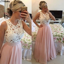 Buy ZTVitality 2017 Slim Lace Beading Women Dresses Hollow Pink Vestido De Festa Sexy Club Patchwork Sleeveless Long Party Dress for $21.87 in AliExpress store