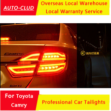 AUTO-CLUD 2015 Toyota camry LED taillights car styling led trunk Fog lamps parking light Toyota camry rear lights(China (Mainland))