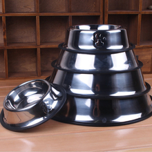 2016 Real Pet Stainless Dog Bowl Bowl 5 Sizes Trough Feeder For Dogs Watering Supplies Mascotas Perros Food Water Dish(China (Mainland))