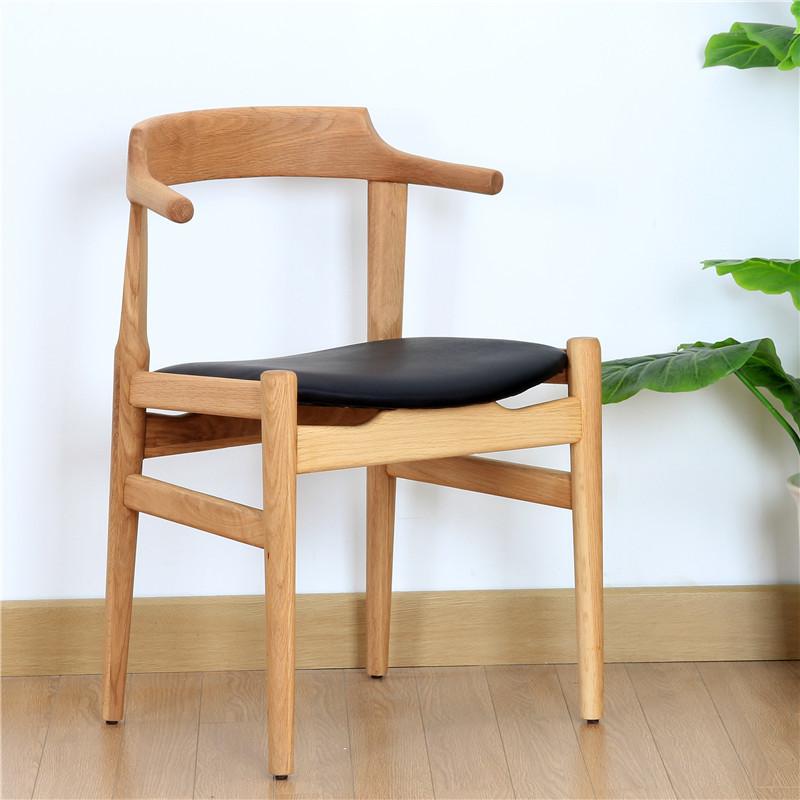 Ch68 wilde eik wit eiken massief hout eetkamerstoel stoel for Eetkamerstoel fauteuil