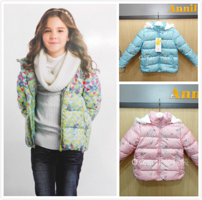 Annil girls counter genuine special offer 2015 new short thick down jacket in winter AG545604 three colors <br><br>Aliexpress
