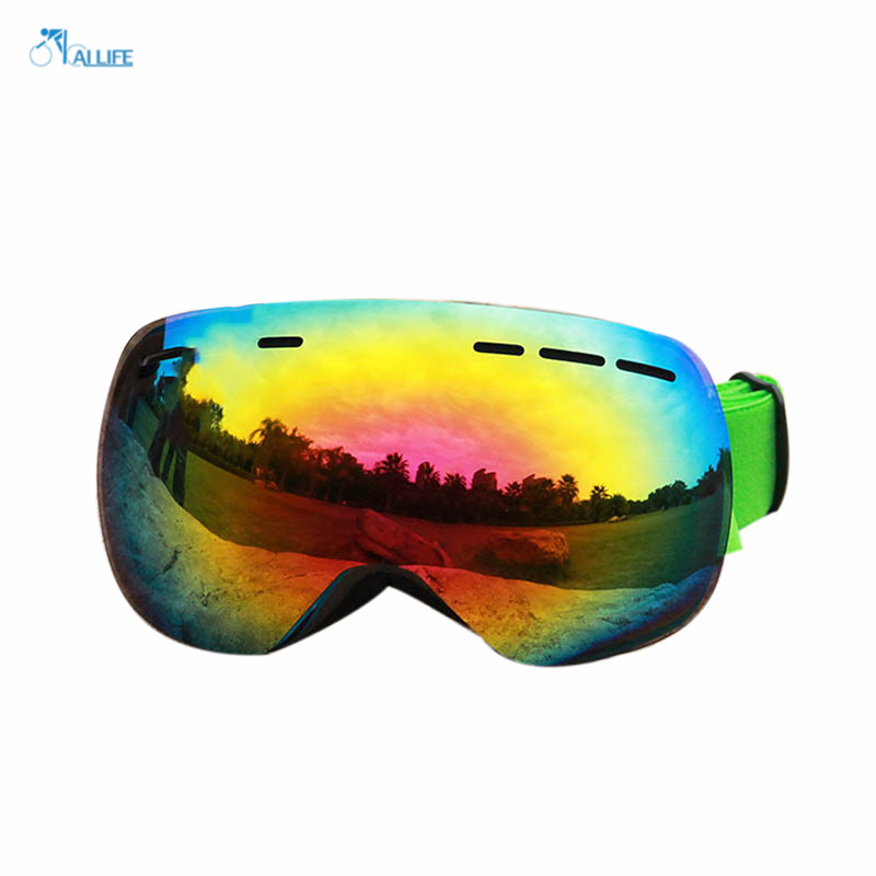 High Top Anti-fog Professional Ski Mirror Snow Goggles Unisex Eye Protection Outdoor Sports Accessories(China (Mainland))