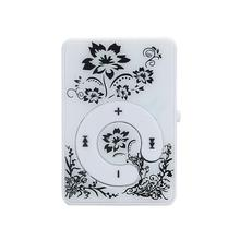 Buy HOT SALE fashion Mini Clip Flower Pattern MP3 Player Music Media Support Micro SD TF Card Slick stylish design Sport Compact for $1.42 in AliExpress store