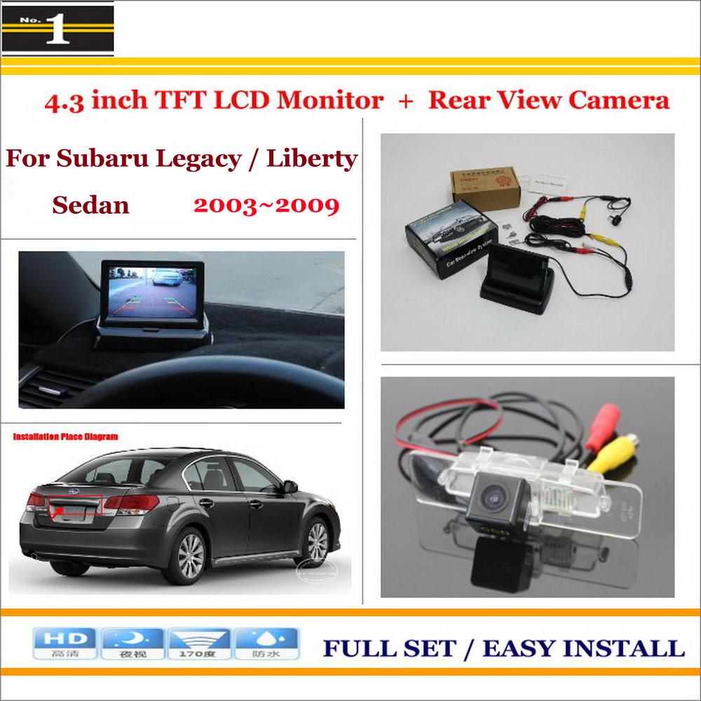 For Subaru Legacy B4 / Liberty MK4 Sedan - Car Rear Camera + 4.3 LCD Screen Monitor = 2 in 1 Back Up Parking System<br><br>Aliexpress