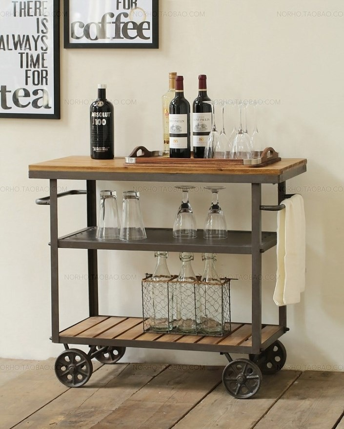 Online Buy Wholesale wooden kitchen trolley from China  : American Iron font b Wood b font diner fashion creative drinks font b trolley b font from www.aliexpress.com size 705 x 879 jpeg 140kB