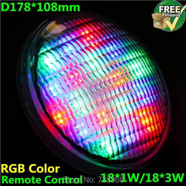 18*3w led swimming pool light 12v ac voltage ip68 waterproof underwater lights - Shenzhen Bright Opto Co., Limited store