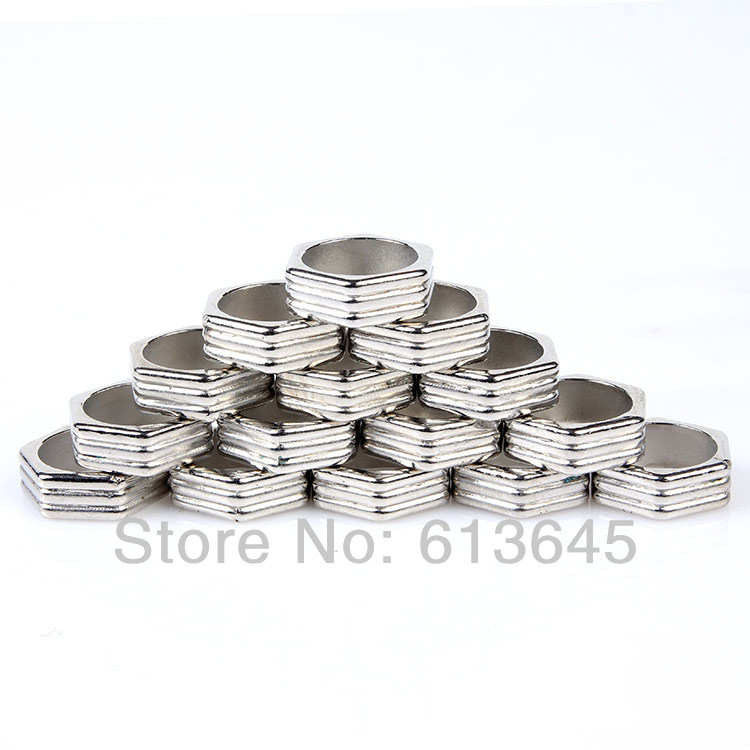 100 Pieces/lot Wholesale Acrylic Plastic Hexagon Jewelry Rings For DIY Scarf, Free Shipping, AC0248A(China (Mainland))