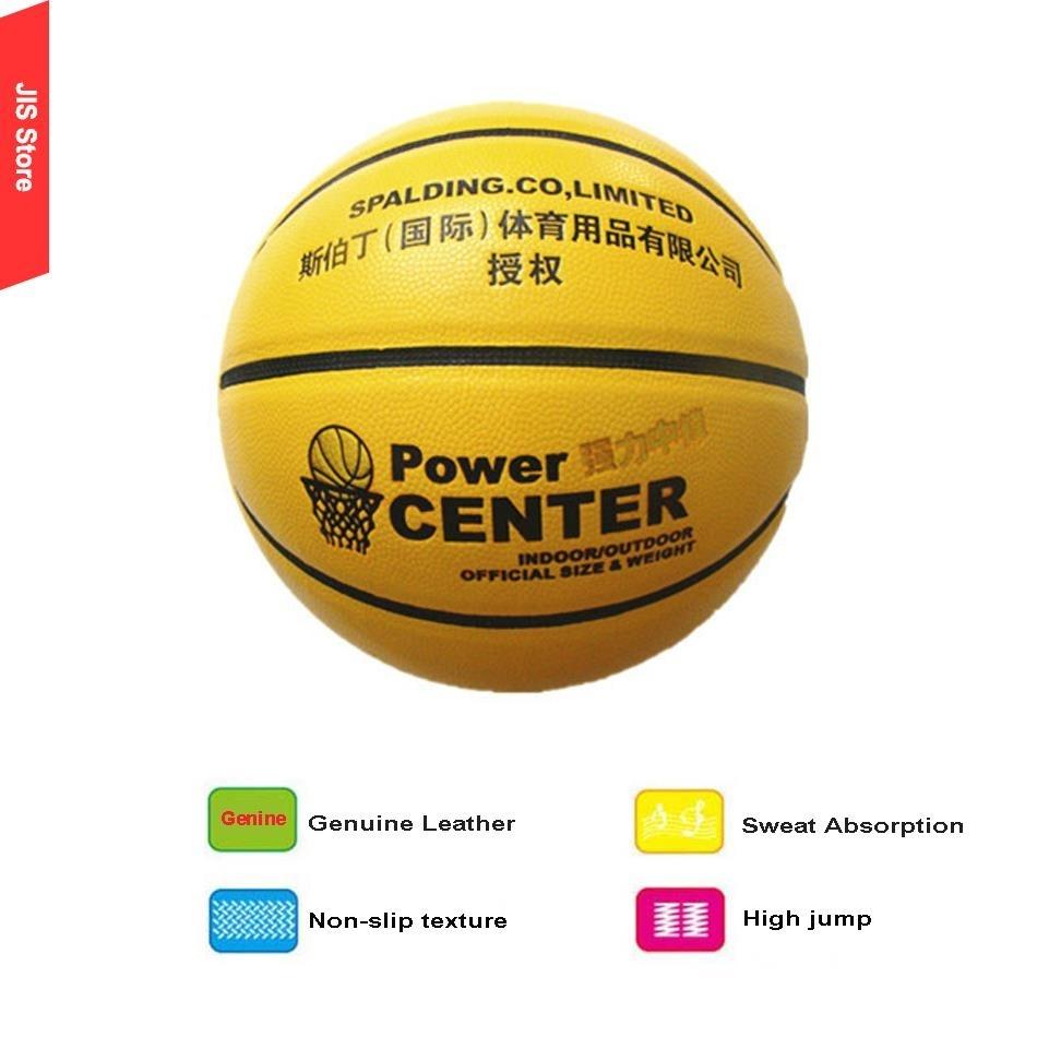 Training Official Sweat Absorption Indoor Outdoor Genuine Leather Basketball Non-slip Basketball Ball Size7 bolas de basquete(Hong Kong)