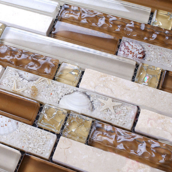 Stone Mosaic Tile Sheets Kitchen Backsplash Tiles Interlocking Marble Ks157 Crystal Glass Tile