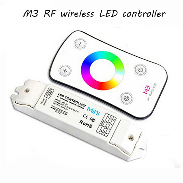 Freeshipping M3 Mini LED Controller Switch Control for full color 5050 3528 RGB Strip Lighting RF controler(China (Mainland))