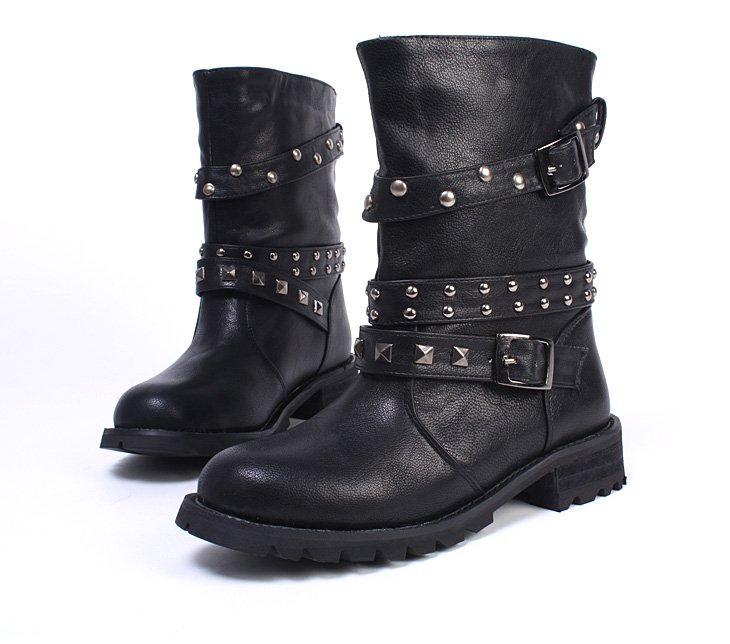 Model Click Here To Find More Fold Over Combat Boots For Women