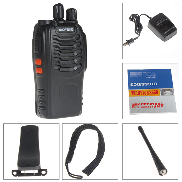 2pcs Portable Digital BaoFeng BF-888S Walkie Talkie FM Transceiver with Flashlight 400-470MHz Interphone Dual Band Two Way Radio(China (Mainland))