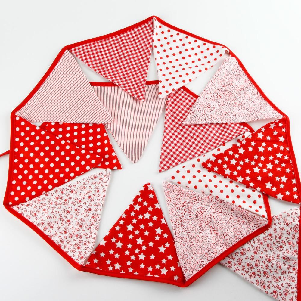 Jogo Do Quarto Vermelho Crimson Room ~ Quarto Bandeira Bunting Bandeiras 3 6 m Colorido Tecido de Algod?o Do