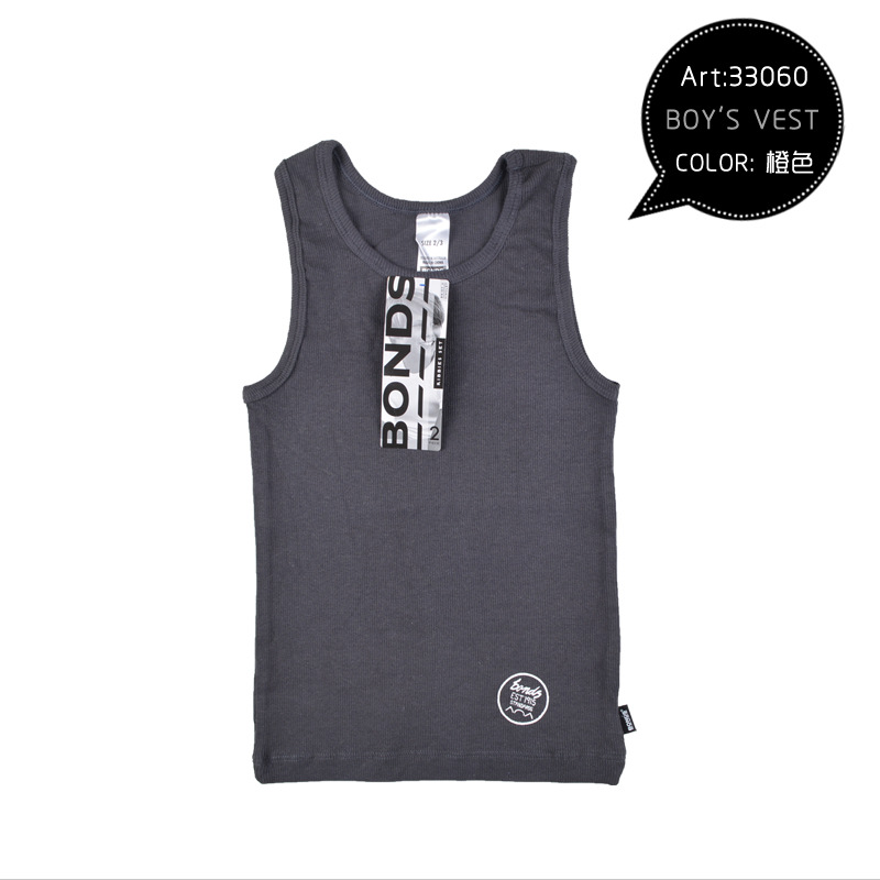 2016 wholesale 12packs new bonds kids girls rib tanks tops singlets children's camisoles tees and tops for girls vest(China (Mainland))