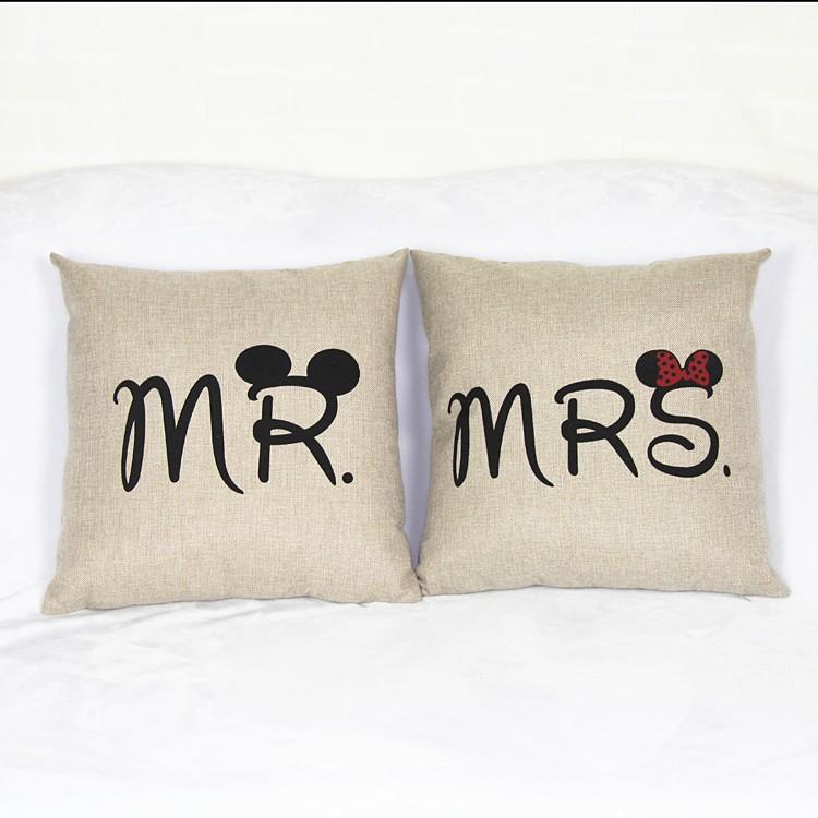2016 MR right Seat Cushion Without Core European Decorative Home Decor love Sofa Chair Throw Pillows