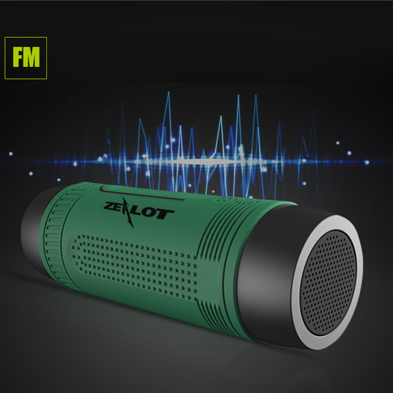 New Multifunctional Outdoor Bluetooth V4.0 Sound Speaker With FM TF Card Player Flashlight for iPhone Sumsang HTC XiaoMi #153(China (Mainland))