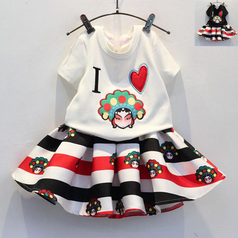 2016 Kids Clothes Girls Princess Elsa Dress + T Shirt 2 Pcs Set 2-10 Age Layered Tutu Sets Clothing Sets, Fashion Lace Suits.06(China (Mainland))