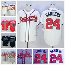 Deion Sanders Jersey,Atlanta Braves 24 Deion Sanders Mens Cool Base Jerseys White Blue Red Cream Stitched Size M-XXXL(China (Mainland))