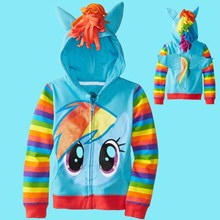 My little pony Children Hoody Cotton Long Sleeve Girls Sweatshirt Casual Kids Hoodies free shipping(China (Mainland))