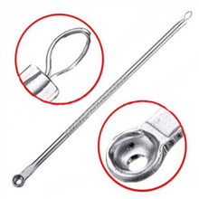 2PCS Silver Blemish Pimple Extractor Skin Care Tools Face Cleanser Blackhead Comedone Remover