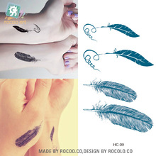Buy 5 pcs Promotion Sale Men Waterproof Tattoo Female Feather Pattern Small Fresh Lovers Hc1009 for $1.27 in AliExpress store