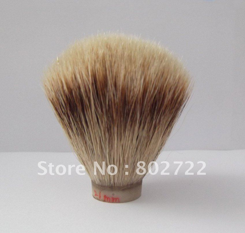 High-grade silvertip badger hair shaving brush knot(knot size 21mm)(China (Mainland))
