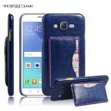 leather cover case Samsung Galaxy J2 J200 J200F J200G stand style card slot - NX Malls store