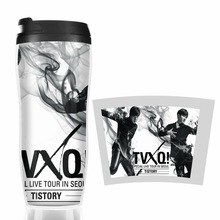HOT SALE TVXQ time works Models Double Insulation Plastic Good Quality Mug Coffee Cup Space Cup