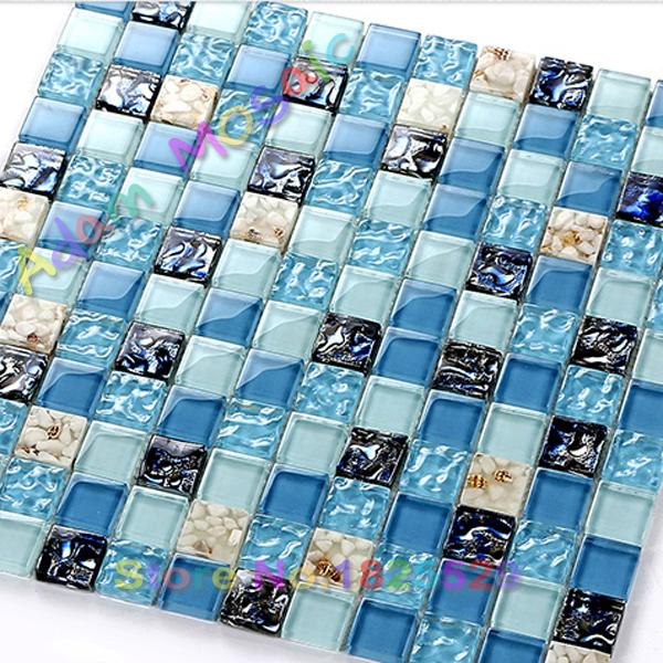 Bleu carreaux de mosa que salle de bains promotion achetez for Carreaux salle de bain bleu