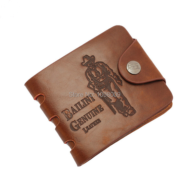 8 style Brown Fashion Short PU Leather Men bifold Wallet Men s Bifold folding Cowhide Wallets