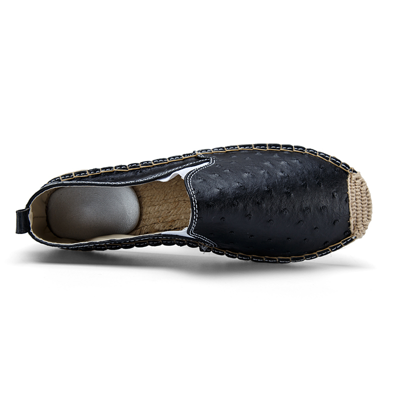 Aliexpress.com Comprar De cuero de moda alpargatas Casual blanco para hombre zapatos holgazanes hombres respirables nueva llegada cómodos zapatos de los