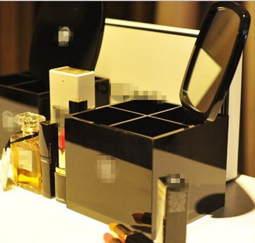 Elegant jewelry box atmosphere of high-end fashion exquisite Storage box cosmetic storage box tools mirrors box(China (Mainland))
