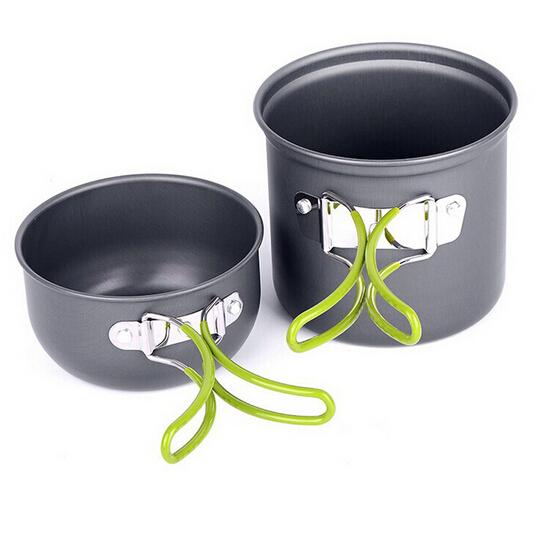 portable aluminum cookware for camping cookware pot bowl set picnic acampamento travel tableware cooking set hiking Utensils(China (Mainland))