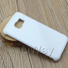 Pc dur bricolage 2D Sublimation vierge cas de couverture pour Samsung Galaxy S6 bord G925 avec plaque d'aluminium 50 pcs/lote