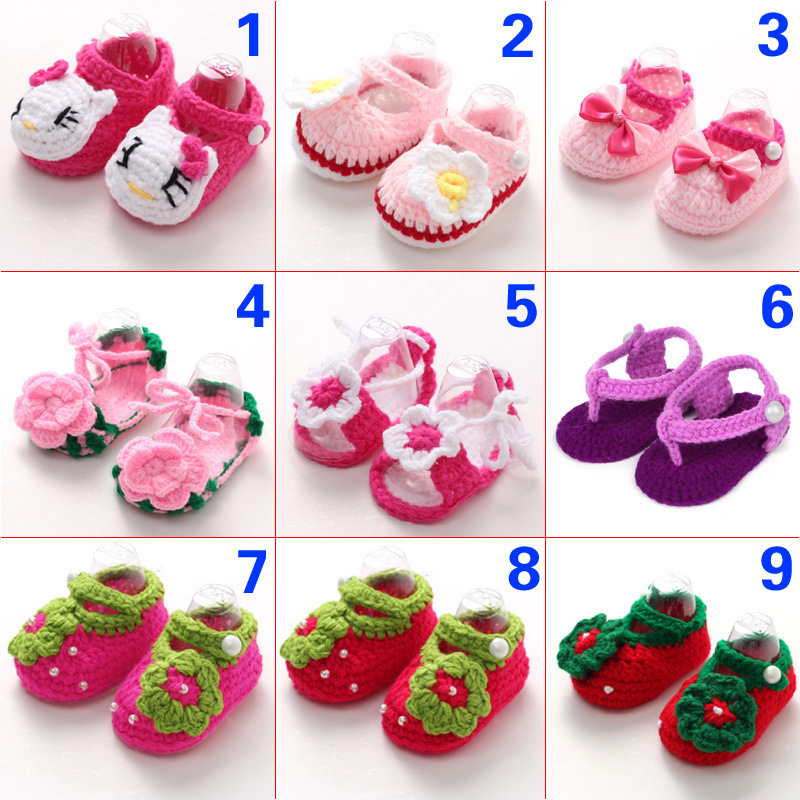 2015 fashion Toddler Crochet Knit sandals Infant Baby Bootee Crib Shoes Socks(China (Mainland))