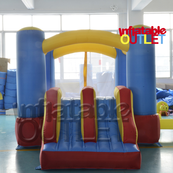 Mini inflatable bouncer bounce house jumping castle with double slides(China (Mainland))