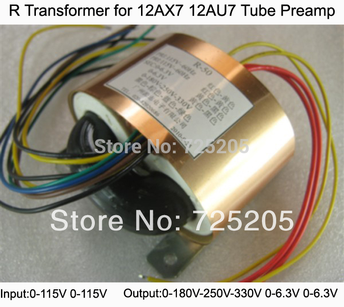 R Transformer 12AX7 12AU7 Tube Preamps Input 0-115V -115V Output 0-180V-250V-330V(120mA)0-6.3V(1A)0-6.3 (1A) 80W(China (Mainland))