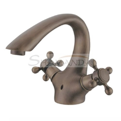 Sink Handle Antique Brass Centerset Bathroom Sink Faucet - Wholesale - Free Shipping  1614