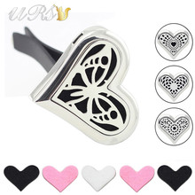 Buy new arrival!35mm large sharp heart magnet diffuser stainless steel car diffuser locket aromatherapy locket car jewelry free pads for $5.80 in AliExpress store