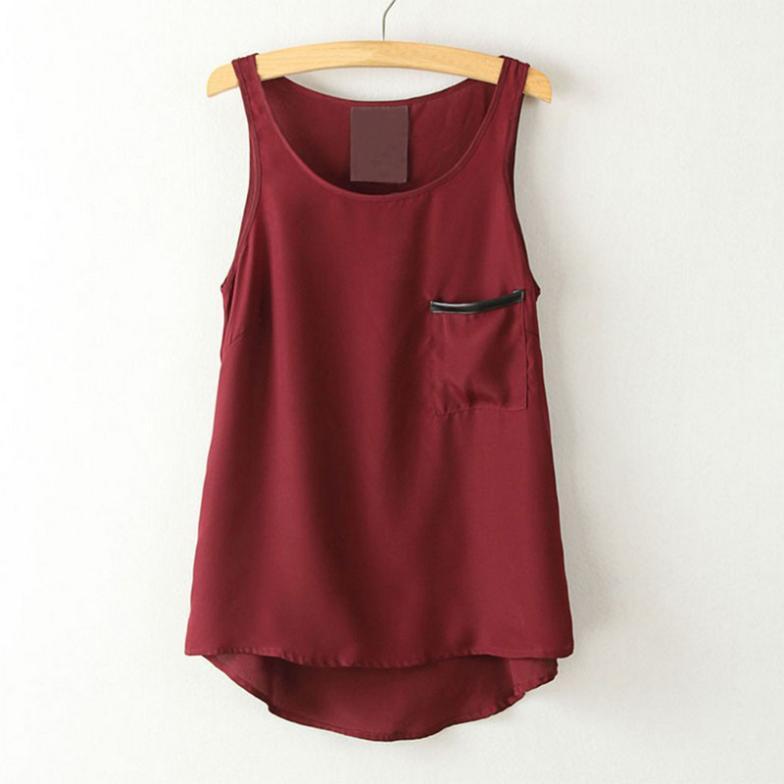 2015 Women 39 S Pocket Shirt Tops Fashion Simple Style Pocket