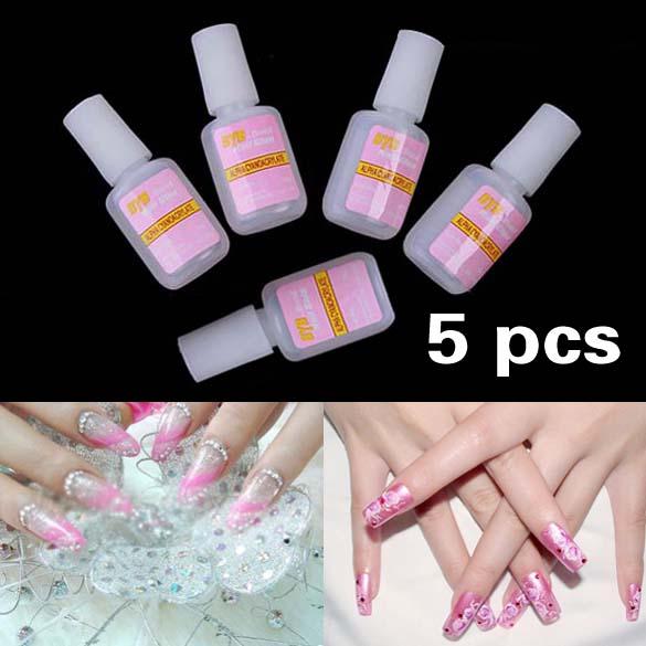 10g Nail Art Glue Tips Glitter UV Acrylic Rhinestones Decoration With Brush Nail Glue HB88(China (Mainland))