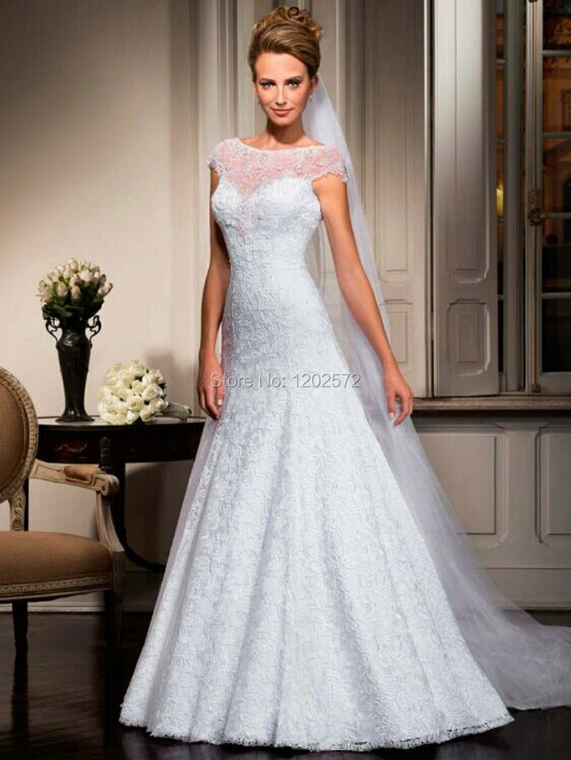 Buy Vernassa Lace Wedding Dress Custom Made Appliques Keyhol
