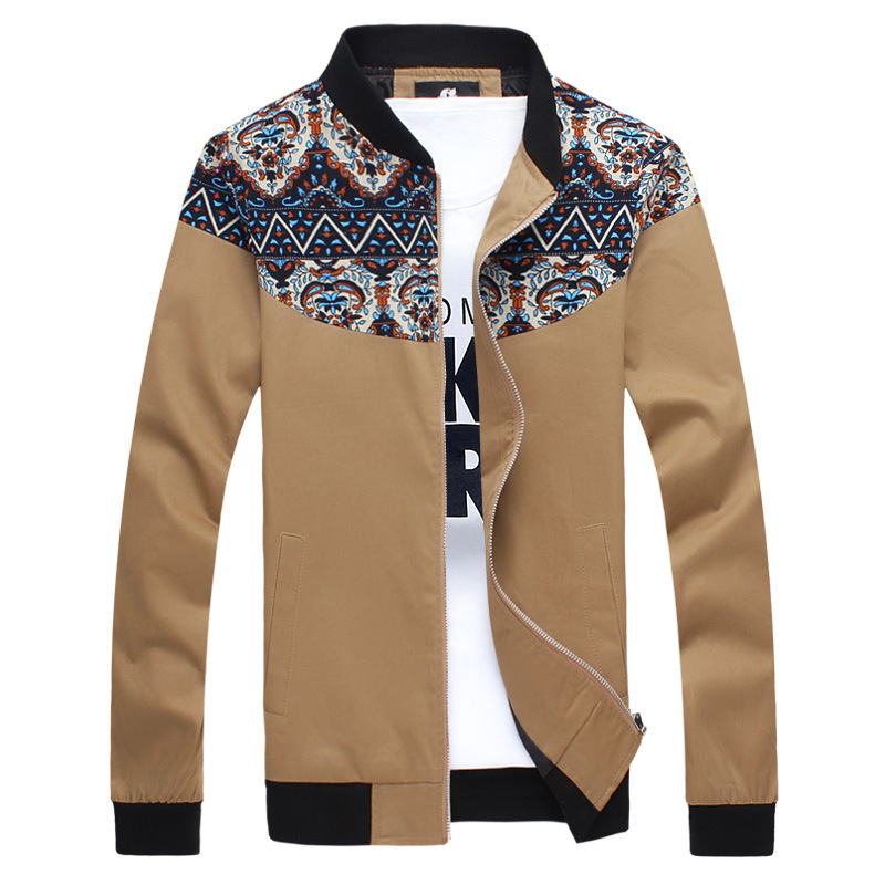 Fashion 2015 High quality patchwork design Casual brand Men's Jackets men coat Asian size:M~5XL outerwear clothing(China (Mainland))