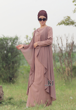 KYLE & JANE boho skirt long False two pieces Bourette + chiffon fabric muslimah islamic abaya plus size kaftan women cotton 0277(China (Mainland))