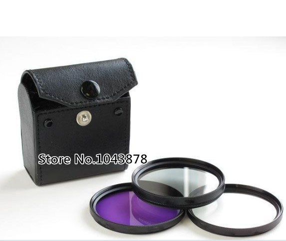 New 3 in1 77mmFilter kit UV FLD CPL Circular+Filter Case Bag Camera for canon nikon sony lens Free shipping + tracking number(China (Mainland))